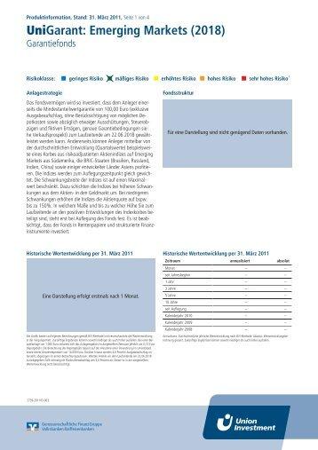 UniGarant: Emerging Markets (2018)