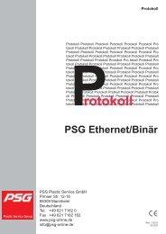 Protokoll PSG Ethernet/Binär PCU/MCU - psg-online.de