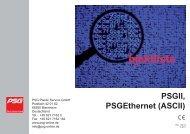 PSGII, Ethernet - psg-online.de