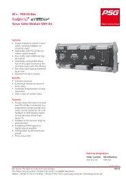 IO's - PSG-IO-Bus Servo Valve Module SMV 04 - psg-online.de