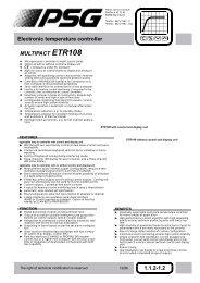 MULTIPACT ETR108 Electronic temperature ... - psg-online.de