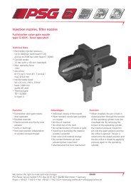 Injection nozzles, filter nozzles - psg-online.de