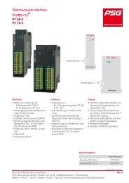 Thermocouple Interface flexotemp® PT08-3, PT16-3 - psg-online.de