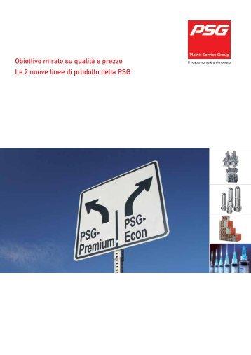Obiettivo mirato su qualità e prezzo Le 2 nuove linee ... - psg-online.de