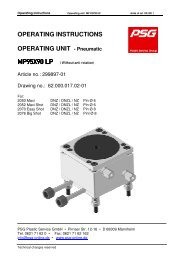 OPERATING INSTRUCTIONS OPERATING UNIT ... - psg-online.de