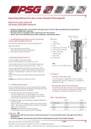 Operating Manual for Hot runner Nozzles Thermoject® - psg-online.de