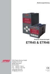 Einkanal-Temperaturregler ETR45 & ETR46 - psg-online.de