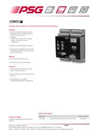 Analog-Input-Interface ThermoIN Pt100 2-Wire ... - psg-online.de