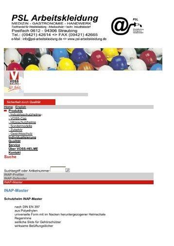 Kopfschutz - PSL Arbeitskleidung