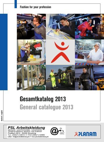 Gesamtkatalog 2013 General catalogue 2013 - Planam