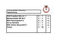 Ergebnisse 1.Landesliga 08/09 -3.WK-Tag - psv-ffo.de