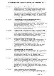 Jahresbericht für 2009