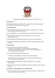 Beitragssatzung des Preußischen Schützenvereines ... - psv-ffo.de
