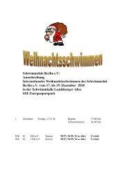 Weihnachtsschwimmfest 2000 - Polizeisportverein PSV Schwerin ...