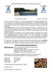 Informationsschreiben - Polizeisportverein PSV Schwerin Abteilung ...