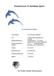 Protokoll - Polizeisportverein PSV Schwerin Abteilung Schwimmen