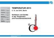 Temperatur und Feuchte - PTB