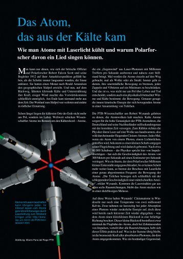 Das Atom, das aus der Kälte kam - PTB