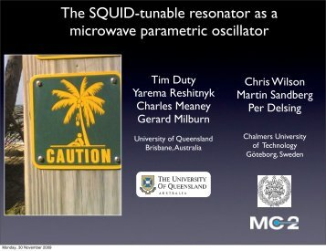 T. Duty et al., The SQUID-tunable resonator - PTB