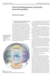 Durch Technologietransfer und Patente Innovation gestalten - PTB