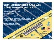 A. Wallraff, Control and measurement of multiple qubits - PTB