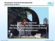 Können elektronische Personendosimeter für ... - PTB
