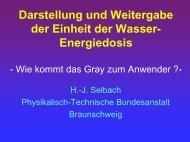 Darstellung und Weitergabe der Einheit der Wasser ... - PTB