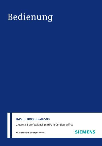 Gigaset S3 professional (HiPath 3000_HiPath 500) - PTC Telecom ...