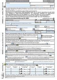 E 1 - Einkommensteuererklärung 2004 (Formular)