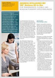 Business intelligence mit sAP® Business All-in-One