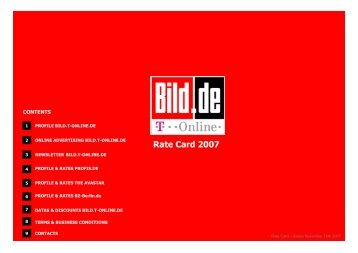 Rate Card bild.t-Online 14.11.07