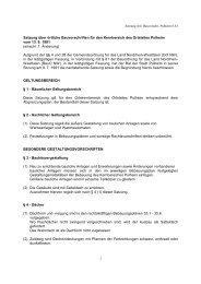 Satzung über örtliche Bauvorschriften für den ... - Stadt Pulheim