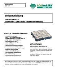 Verlegeanleitung Ecoraster MINERAL - PURUS PLASTICS