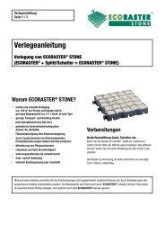 Verlegeanleitung Ecoraster STONE - PURUS PLASTICS