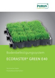 ECORASTER® GREEN E40 - PURUS PLASTICS