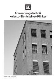 Anwendungstechnik kelesto-Sichtsteine - Keller AG Ziegeleien