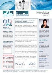 newsletter Medizin PVS MEFA Ausgabe 02 2010 - PVS-MEFA Reiss ...