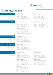 Liste Ihrer Ansprechpartner - PVS medis