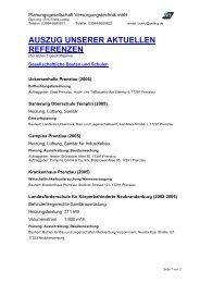 AUSZUG UNSERER AKTUELLEN REFERENZEN - Pvting.de
