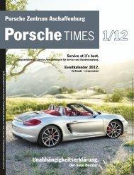 Unabhängigkeitserklärung. Porsche Zentrum Aschaffenburg