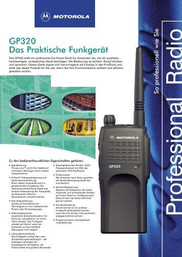 GP320 Das Praktische Funkgerät - Center Communication Systems ...