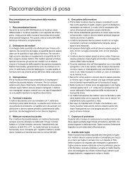 Raccomandazioni di posa - Keller AG Ziegeleien