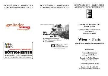 Programm - Das Schwäbisch Gmünder Akkordeonorchester