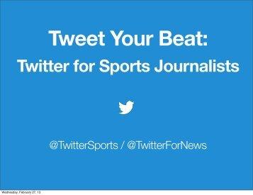 Tweet Your Beat: