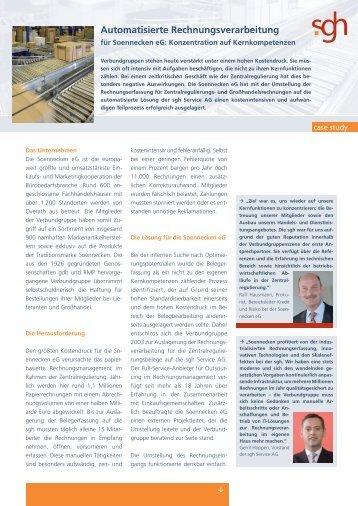 Download von Case Study Soennecken als PDF - SGH Service AG