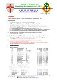 Ausschreibung Bezirksmeisterschaft 2013 Bezirk 11