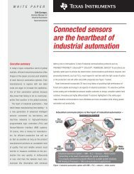 Connected sensors are the heartbeat of industrial automation