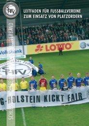 SHFV-Leitfaden Platzordner 2010 - Schleswig-Holsteinischer ...