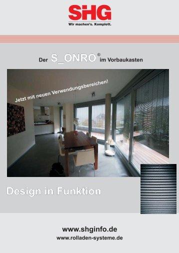 Flyer Voro S-Onro.13.03.09.cdr - SHG Rolladen-Systeme GmbH