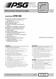 Temperaturregler ETR108 - psg-online.de